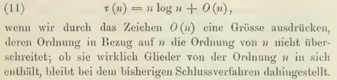 Big Oh Notation in Die analytische Zahlentheorie