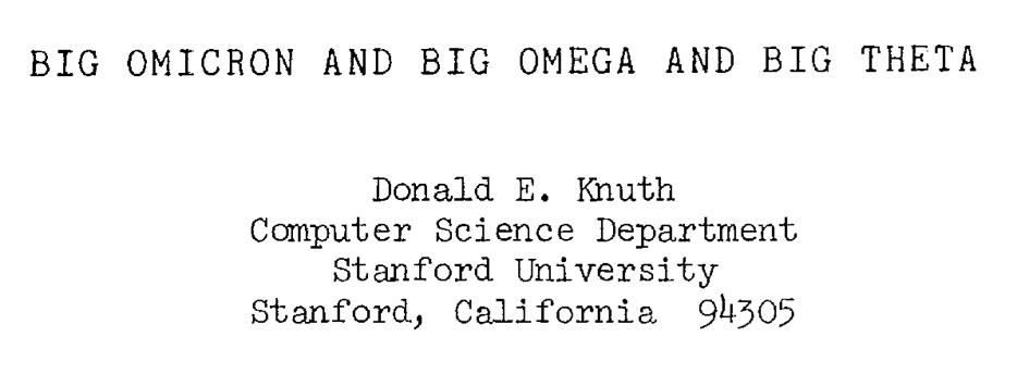 Big Omicron Knuth